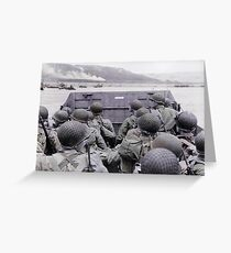 Landing on Beach D-Day Greeting Card