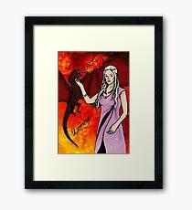Daenerys Targaryen - colour Framed Print