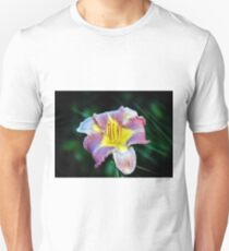Lavender And Yellow Lily Unisex T-Shirt
