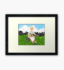 The Hills Are Alive!  Framed Print