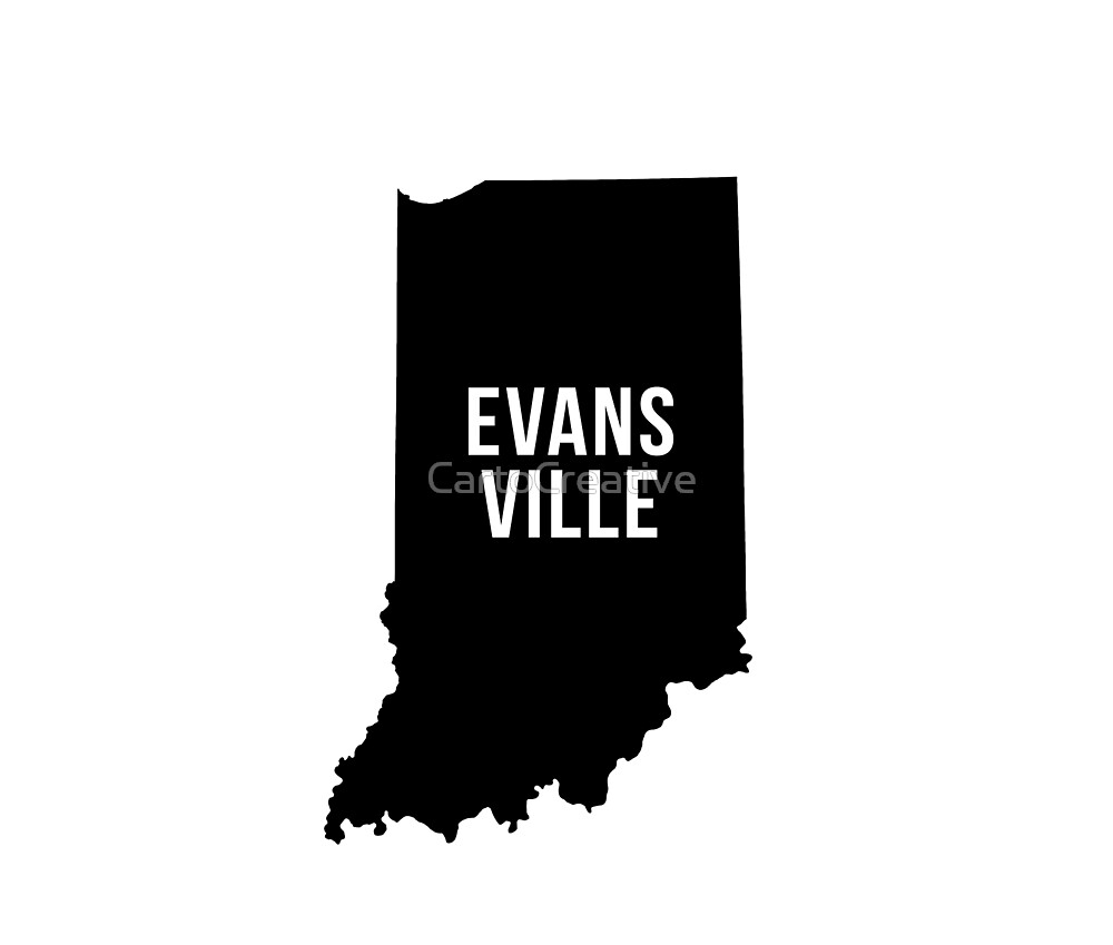 Evansville, Indiana Silhouette by CartoCreative