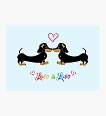 Love is Love, Hairbows Photographic Print