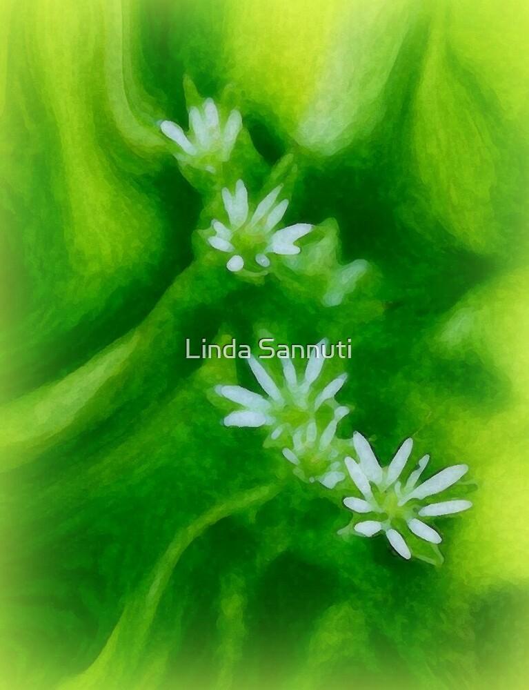 Painted weeds by Linda Sannuti