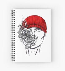 Red beanie Spiral Notebook