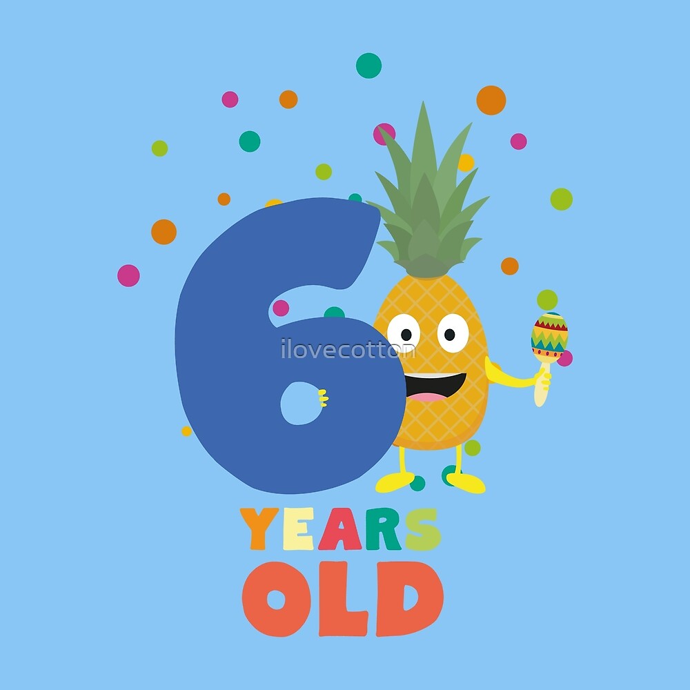 Six Years sixth Birthday Party Pineapple Rouv6 by ilovecotton