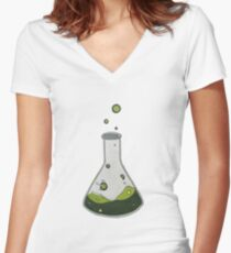 Toxic Contents Women's Fitted V-Neck T-Shirt