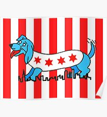 Chicago Style Dog Poster