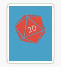 Minimalist Nat d20  Sticker