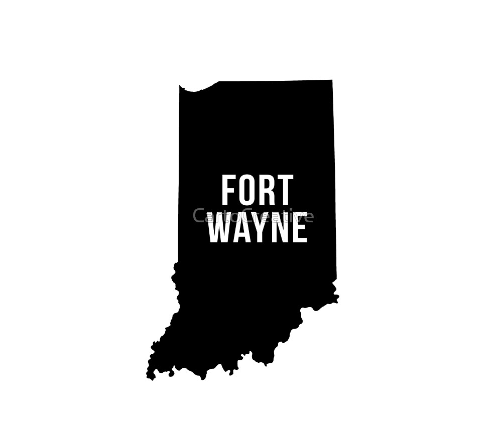 Fort Wayne, Indiana Silhouette by CartoCreative