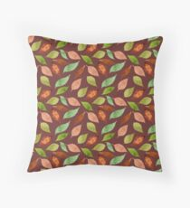 Colorful watercolor leaves on your clothes Throw Pillow