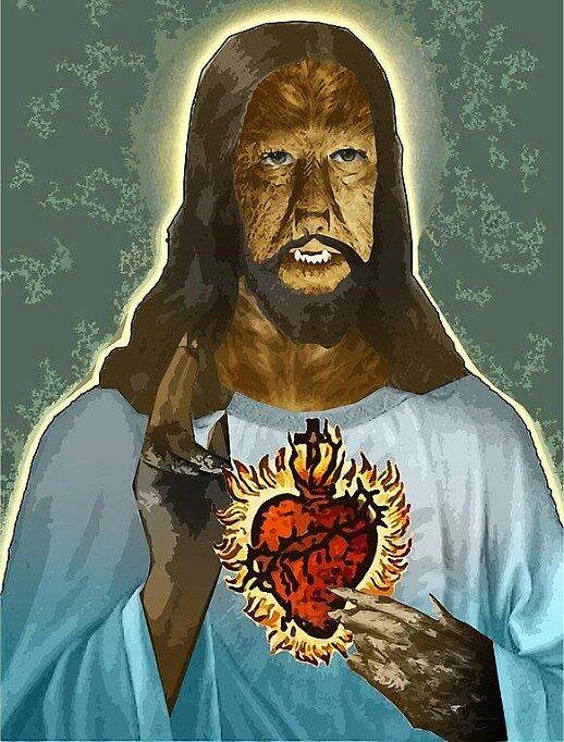 Werewolf Jesus by djzombie