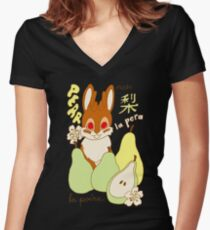 Jackalope and Pear Women's Fitted V-Neck T-Shirt