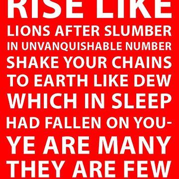 Rise Like Lions JC4PM Jeremy Corbyn T Shirt by west12345