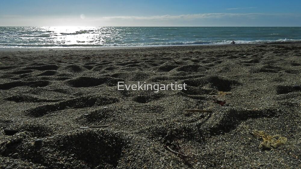 Sandy beach by Eve King