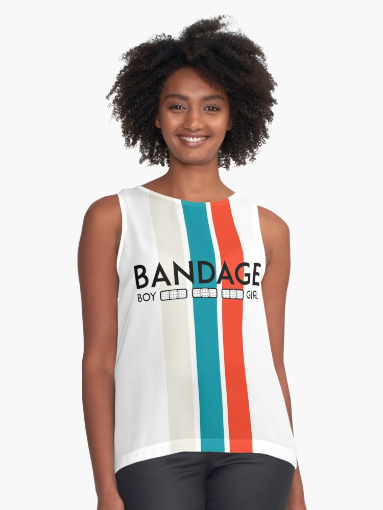 Bandage Boy and Girl Contrast Tank Front