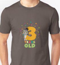 Three Years third Birthday Party Cat Rdd8s Unisex T-Shirt