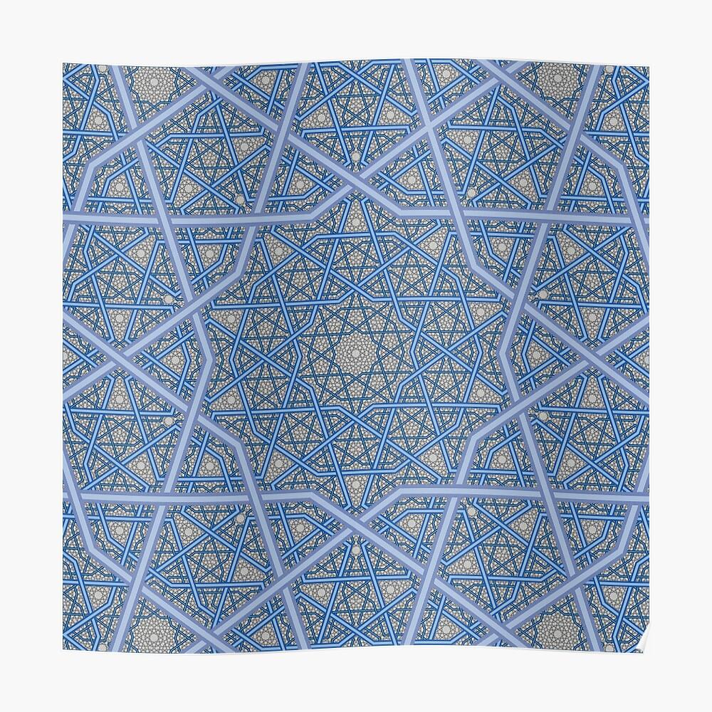 Vierschichtiges persisches König-Muster Poster