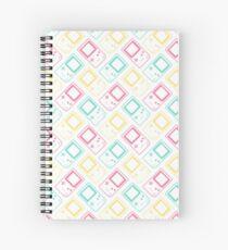 Gameboy Pocket Outlines Summer (white) Spiral Notebook