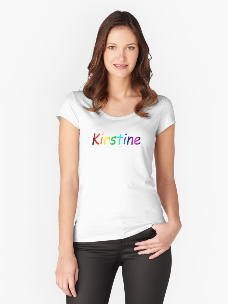 IS THIS WHAT U WANT Women's Fitted Scoop T-Shirt Front