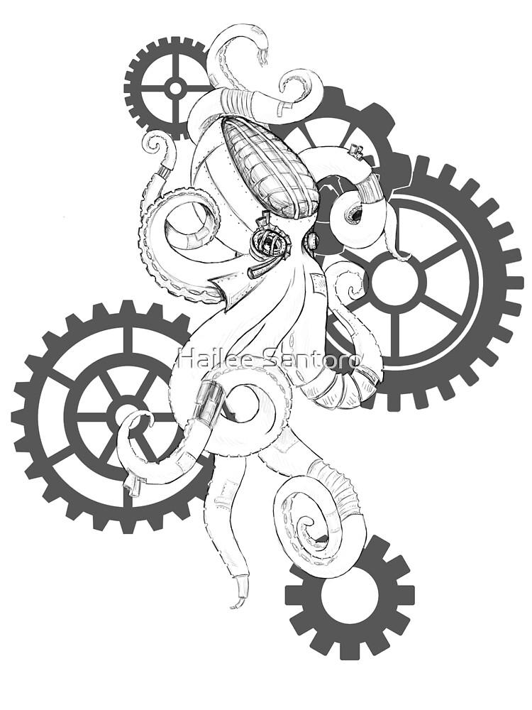 Steampunk Octopus by Hailee Santoro