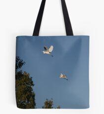 Egrets flying Tote Bag