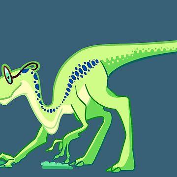 Nerdy Iguanodon by Meowssacre