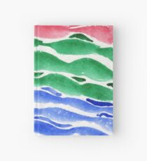 Ocean Abstract Hardcover Journal