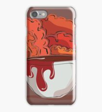 Coffee cup with Fall Trees in Background iPhone Case/Skin