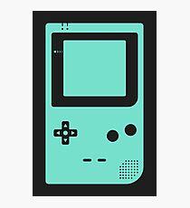 Minimal Gameboy pocket green (black) Photographic Print