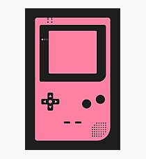 Minimal Gameboy pocket pink (black) Photographic Print