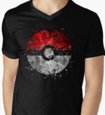 Pokemon Splatter Men's V-Neck T-Shirt