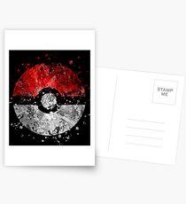 Pokemon Splatter Postcards