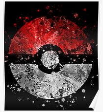 Pokemon Splatter Poster
