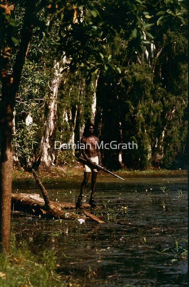David Gulpalil in arafura Swamp by Damian McGrath