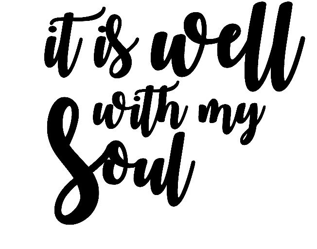 It is well with my soul Sticker by Sarah Taylor