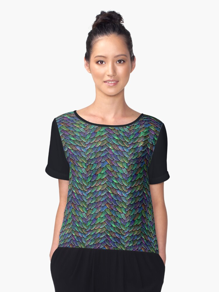 Mother of Dragons Rainbow Scales Women's Chiffon Top Front