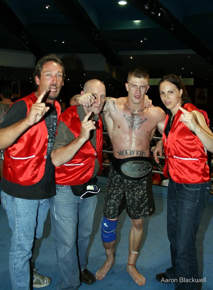 Kickboxing Championship Title Winner by Aaron Blackwell