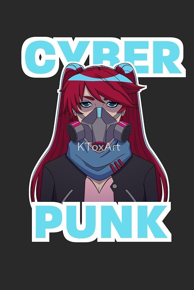 Cyberpunk Anime Girl by KToxArt