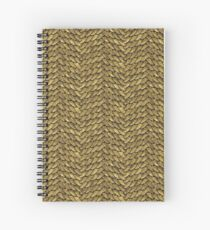 Golden Disco Dragon Scales Spiral Notebook