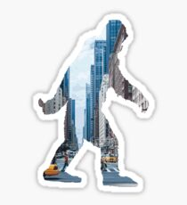 A Sasquatch Silhouette in New York City Sticker