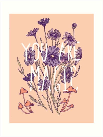 Floral Typography || Psychedelic Illustration by Chrysta Kay by chrystakay