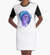 Lillurin_Ruby Stare Graphic T-Shirt Dress