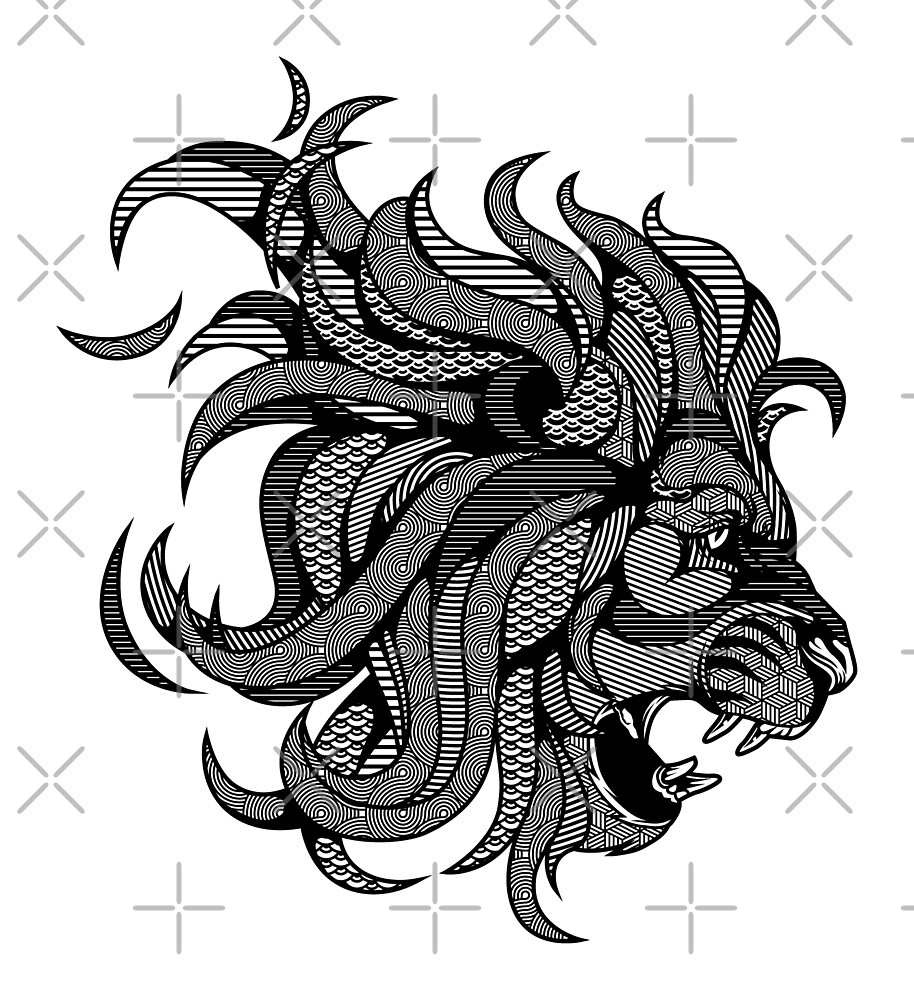 Lion Zentangle by Afif Quilimo