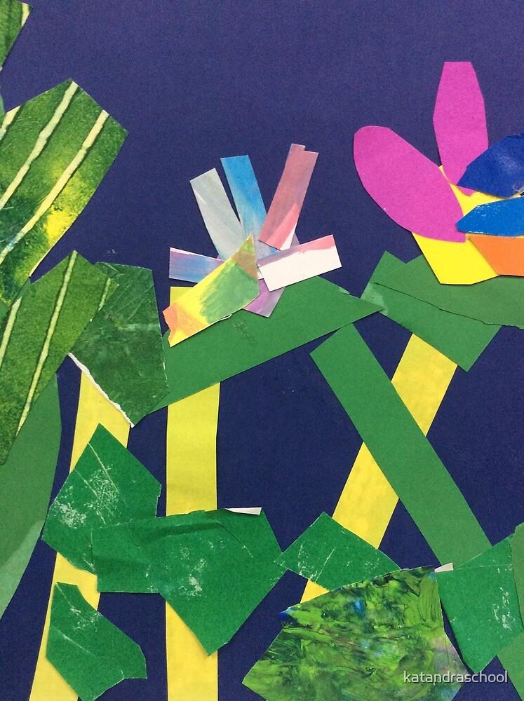 Flower collage by katandraschool