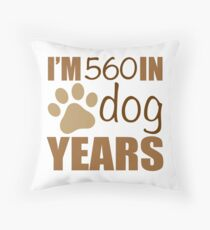 80th Birthday Dog Years Throw Pillow