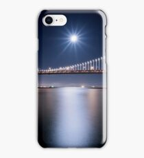 Supermoon over San Francisco Bay Bridge iPhone Case/Skin