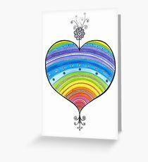Rainbow Heart Illustration Love drawing  Greeting Card