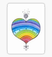 Rainbow Heart Illustration Love drawing  Sticker