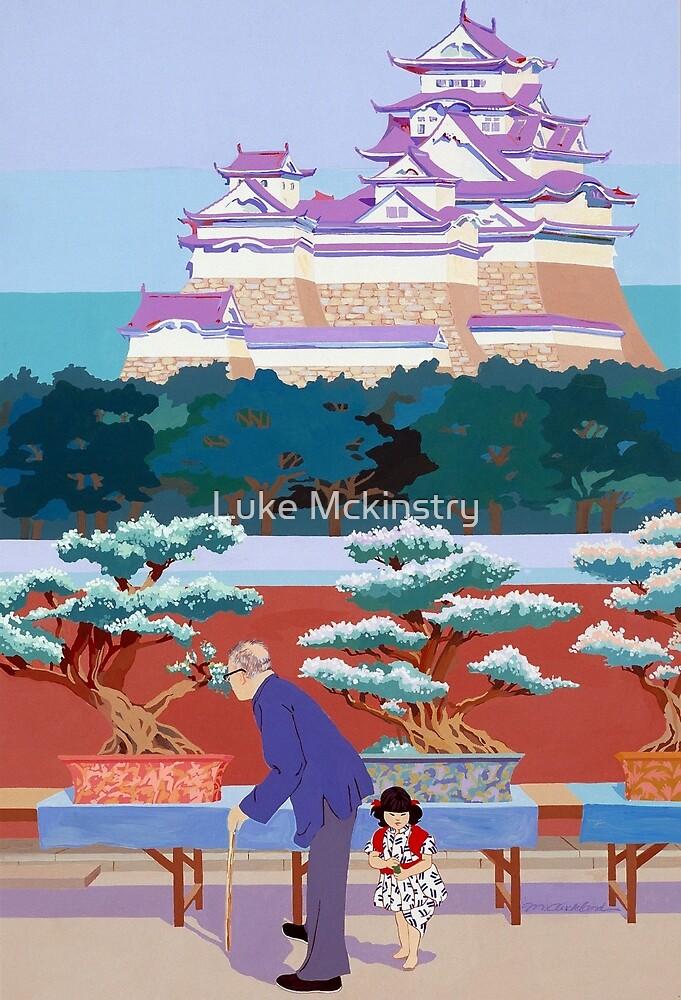 """""""Himeji Castle"""". Artist: Martha Aucklund. (US Air Force Art Collection) by Luke Mckinstry"""