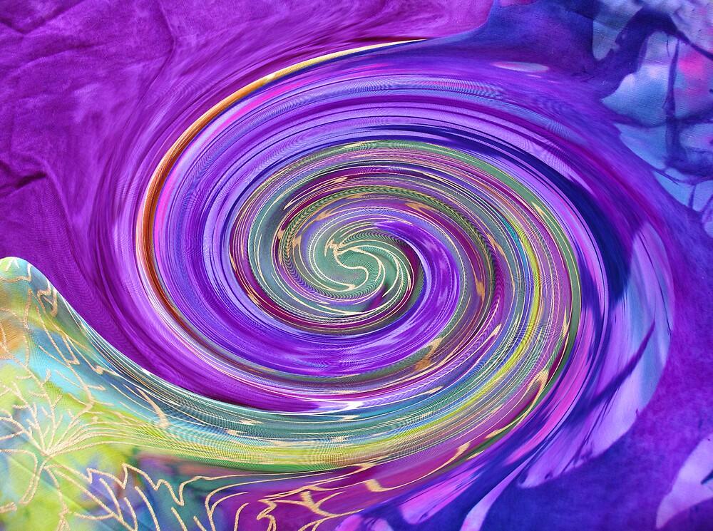 Purple Spirals by BizziLizzy